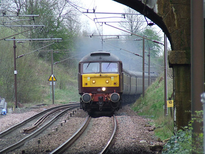 Scottish Chieftain on working 1Z20 at Johnstone. 12th April 2009