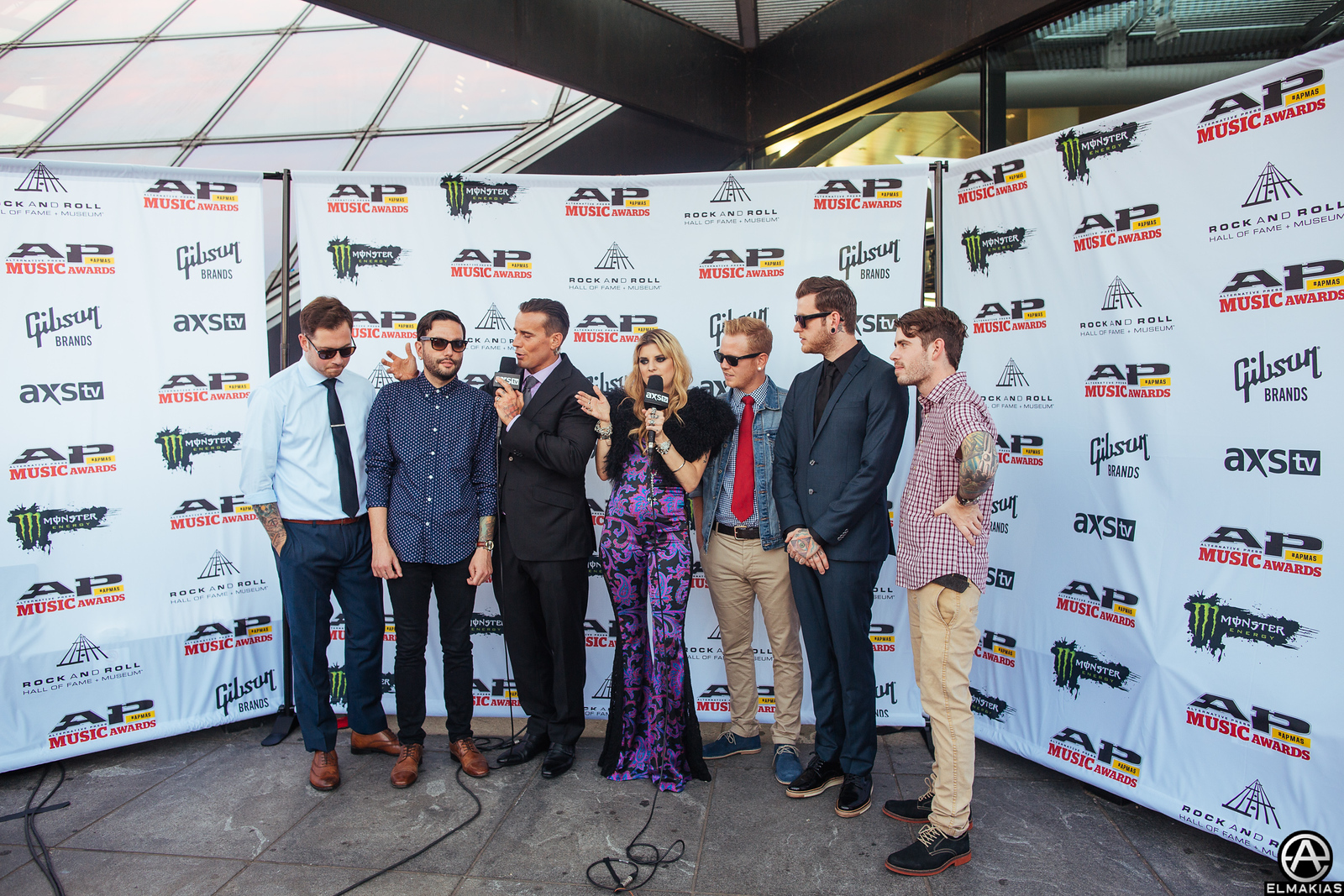 CM Punk and Juliet Simms interviewing A Day To Remember