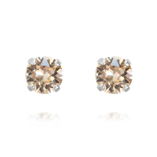 Classic Stud Earrings / Silk / Rhodium