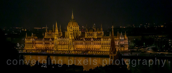 The Parliment Building at night; taken from Buda Castle Hill.