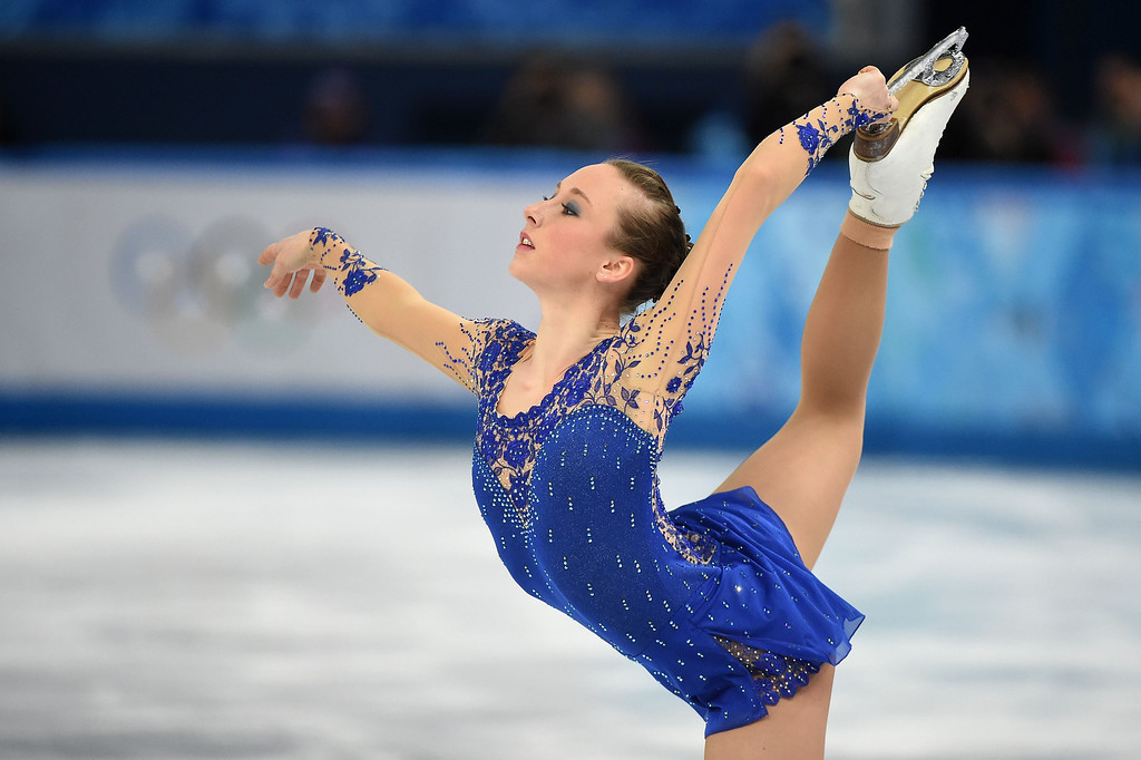. Germany\'s Nathalie Weinzierl performs in the Women\'s Figure Skating Free Program at the Iceberg Skating Palace during the Sochi Winter Olympics on February 20, 2014. DAMIEN MEYER/AFP/Getty Images