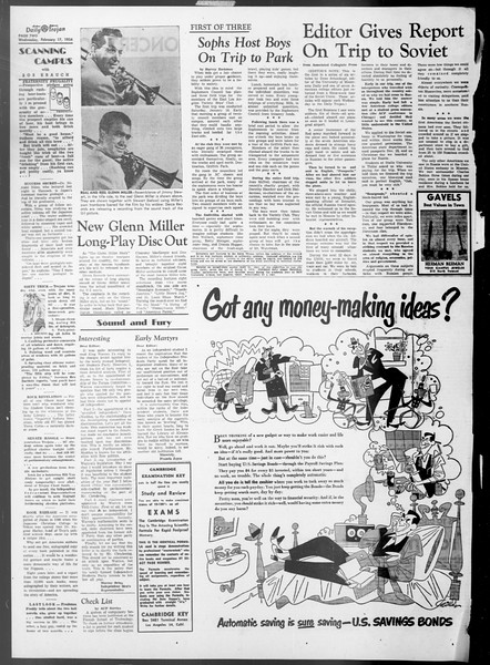 Daily Trojan, Vol. 45, No. 75, February 17, 1954