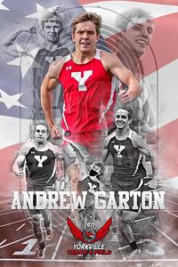 2021 Andrew Garton Track & Field Poster