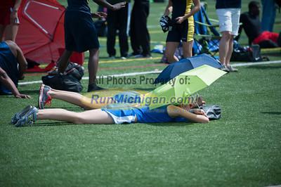 D2 Girls 100M Finals - 2013 MHSAA LP Track and Field Finals
