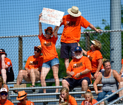 8/4/2019 Mike Orazzi | Staff East Pennsboro Little League fans during their opening round game of the Little League Mid-Atlantic regional Baseball Tournament in Bristol.
