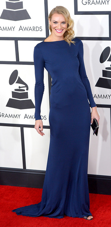 . Holly Riding arrives at the 56th Annual GRAMMY Awards at Staples Center in Los Angeles, California on Sunday January 26, 2014 (Photo by David Crane / Los Angeles Daily News)