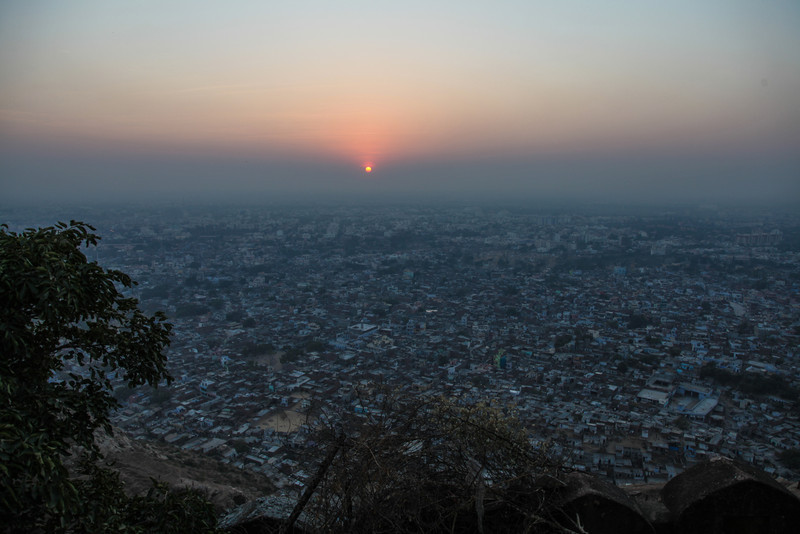 A view of sunset from atop Nahargharh.