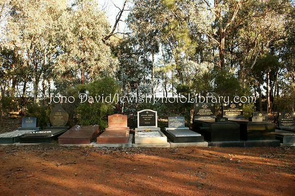 AUSTRALIA, Australian Capital Territory (ACT), Canberra. Jewish sector, Gungahlin Cemetery. (8.2010)
