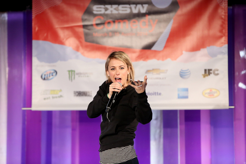 . Comedian Iliza Shlesinger attends YAHOO presents Comedy Gives Back @ SXSW, Bringing Social Awareness To Feeding America on March 9, 2014 in Austin, Texas.  (Photo by Jonathan Leibson/Getty Images for Feeding America)