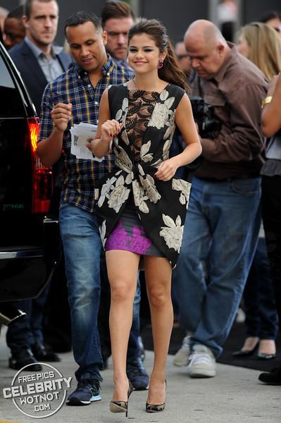 Selena Gomez in Vera WangDress,Jimmy ChooHeels, &Lorraine SchwartzJewels, LA