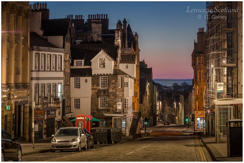 John Knox's House, High Street, with dawn breaking (2)