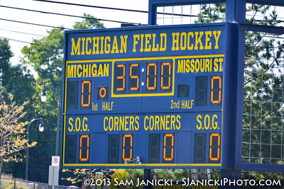 9-27-13 Michigan Field Hockey Vs Missouri State