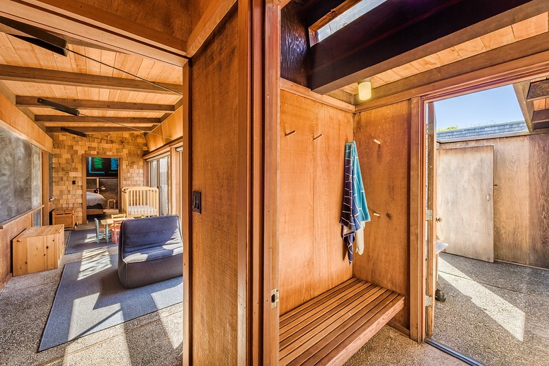 Guest Wing and Entry to Outdoor Shower and Courtyard
