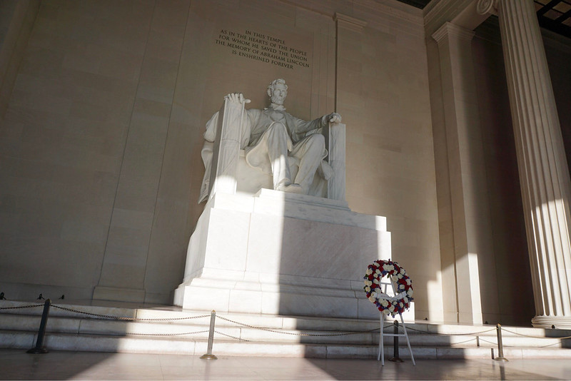 Students were able to admire the Lincoln Memorial.