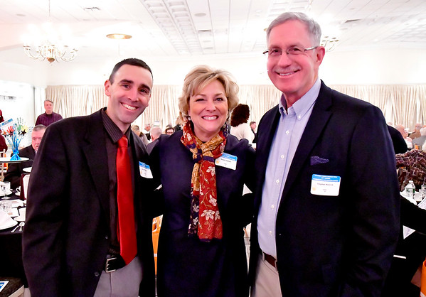 2/5/2020 Mike Orazzi | Staff Chris Palmieri, Sue Sadecki and Stephen Nyerick during the Southington-Cheshire YMCA's 91st Annual Celebration & Recognition Dinner held at the Aqua Turf Club on Wednesday night.