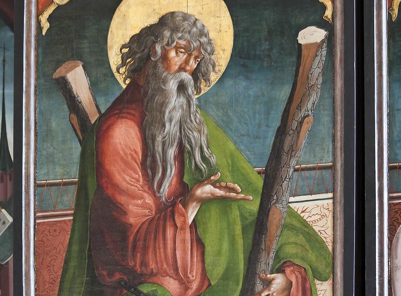 St. Niklas, Ehrenfriedersdorf, Altar, 2. Wandlung: Apostel Andreas (Meister des Ehrenfriedersdorfer Hochaltars ?)
