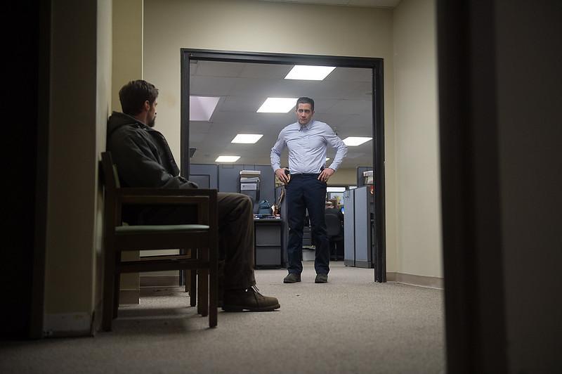 . Hugh Jackman as Keller Dover and Jake Gyllenhaal as Detective Loki in \'Prisoners.\' (Wilson Webb/Warner Bros. Pictures)