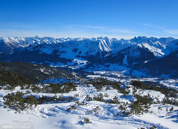 Toreck ski tour, Kleinwalsertal 2013-12-30