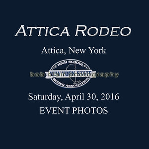 2016 Attica Rodeo-NYS High School