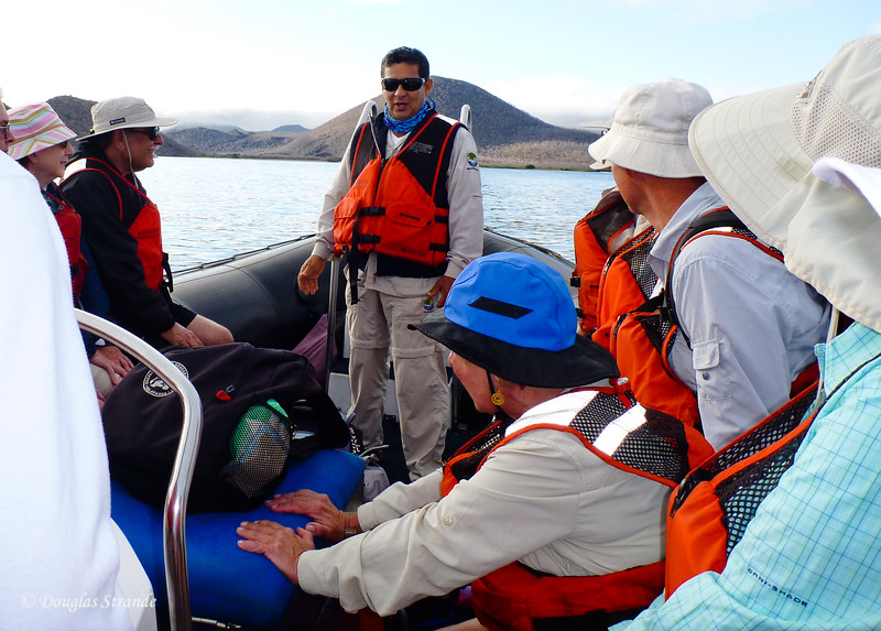 Naturalist Jorge leads our expedition to Cormorant Point, Floreana Island
