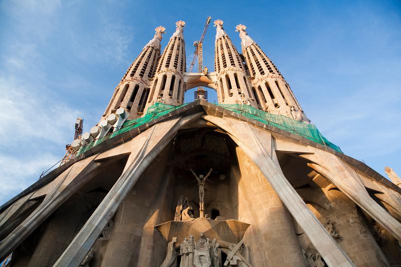 Iglesia de la Sagrada Familia, obra inacabada de Gaudí, Barcelona
