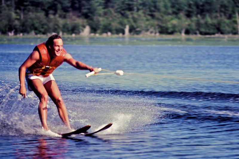 Circa:1982. Jeff skiing