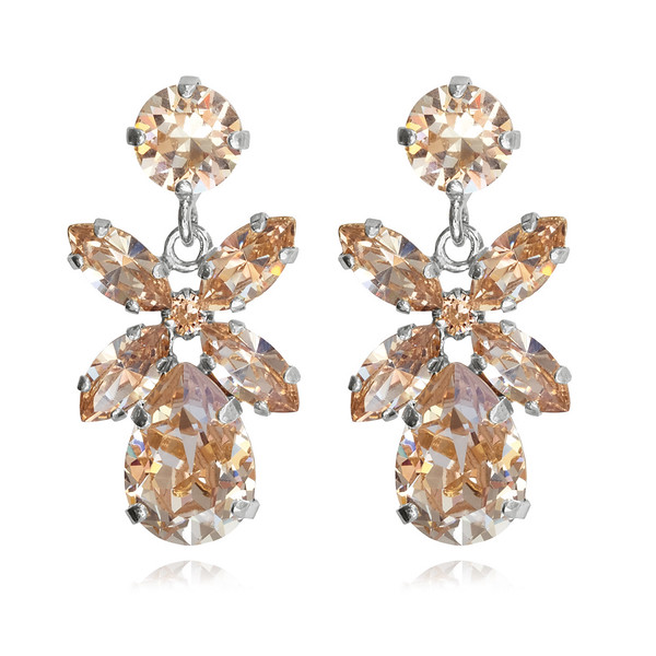 Mini Dione Earrings / Silk / Rhodium