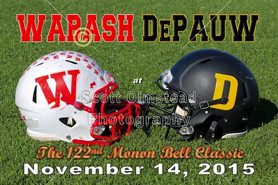 2015 Wabash at DePauw (11-14-15) 122nd Monon Bell Classic