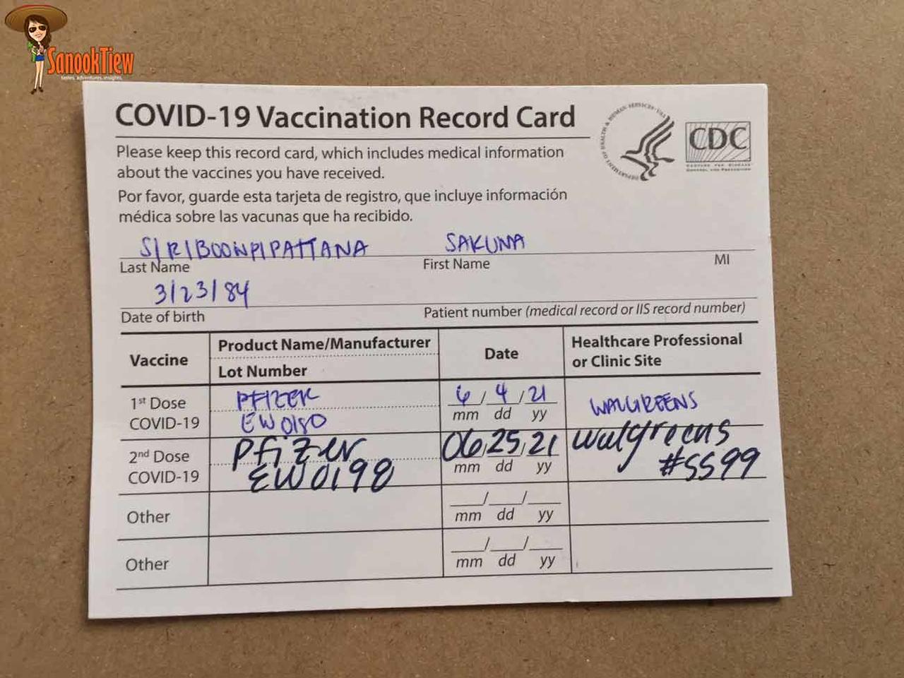 ไปฉีดวัคซีนที่อเมริกา ค่าใช้จ่าย? ใช้เอกสาร? บนเครื่องบินมีอาหาร? ตม.ถาม? ต้องกักตัว? และ ขั้นตอนการฉีดวัคซีน