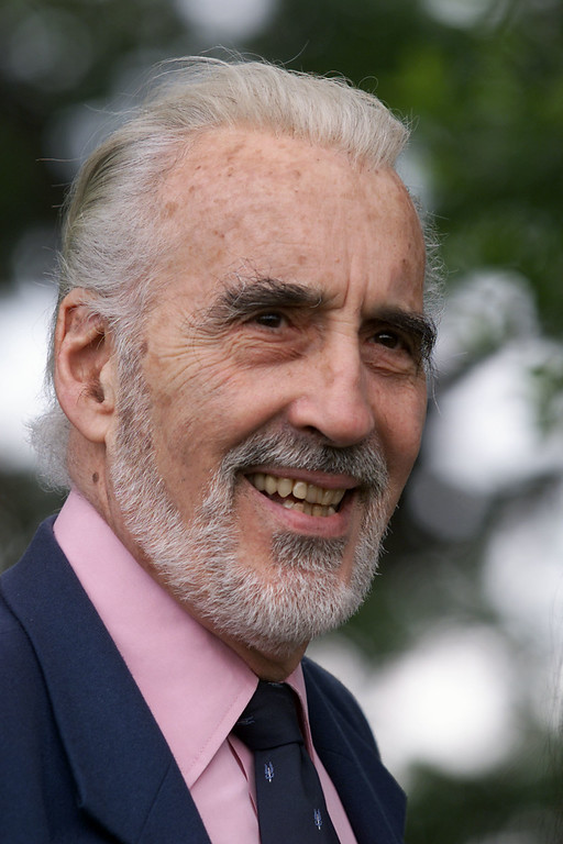 . From the upcoming film \'Lord of the Rings\' is actor Christopher Lee photographed at Chateau Castellaras in Castellaras, France, a suburb of Cannes, 5/11/01. Photo by Frank Micelotta/Getty Images.
