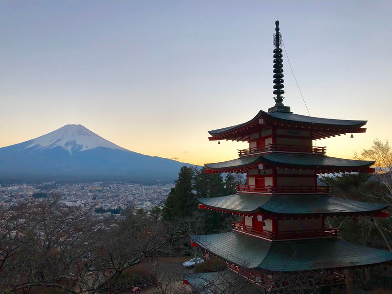 Best Early Blue Hour Snap (Mt. Fuji & Chureito Pagoda)