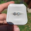 1.70ctw Old European Cut Diamond Clover Stud Earrings, GIA H-I SI 47
