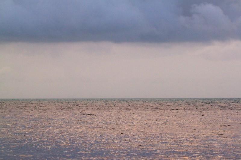 florida bay after cloudy sunset