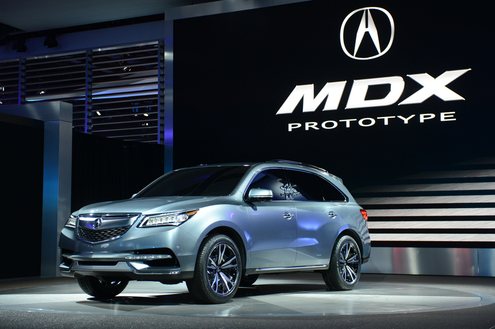 . The Acura MDX Prototype is introduced at the 2013 North American International Auto Show in Detroit, Michigan, January 15, 2013. AFP PHOTO/Stan HONDASTAN HONDA/AFP/Getty Images