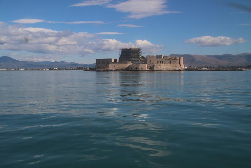 Nafplion harbor on the way to Corinth