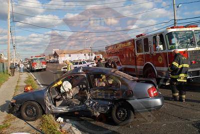 Lindenhurst F.D. Fatal MVA w/ Entrapment Montauk Hwy. and Venetian Prom. 11/17/10