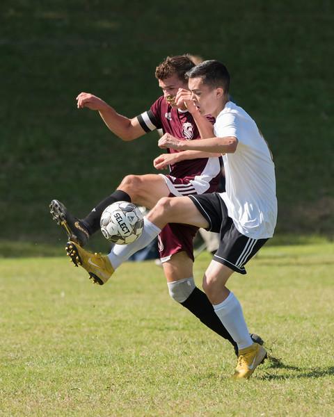 2019 Boys Soccer:  Hall-Dale vs Monmouth