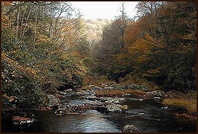 Snowbird Creek below Big Falls autumn NC