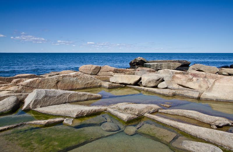 shapes, rocks & water