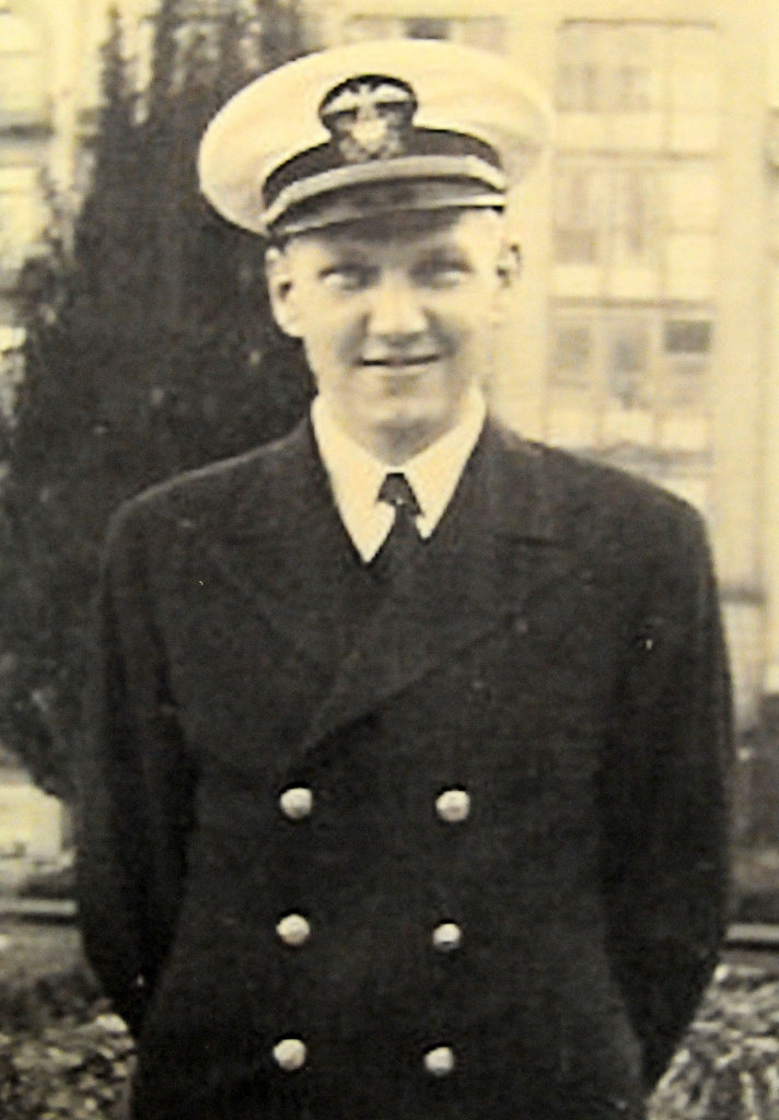 . Naval Captain Charles Burrows in a photo taken during his World War II service.  (Pioneer Press: John Doman)