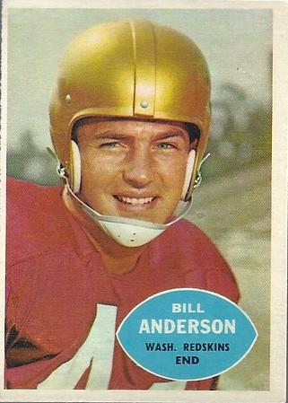 1960s Redskins Cards