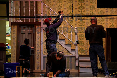 Mary Poppins - Back Stage and sets