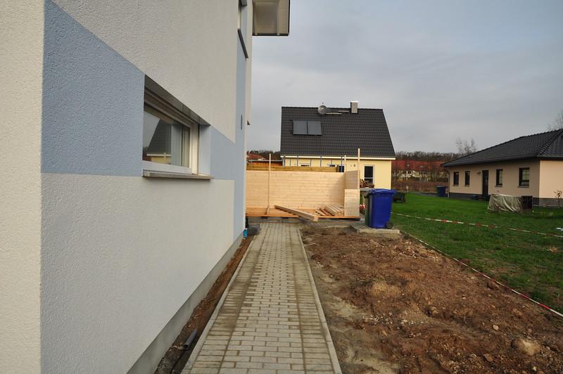 Gartenhaus nimmt langsam Form an.