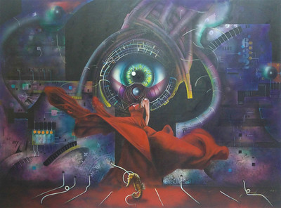 """EYES"" (acrylic on canvas) by Okan Boydas"