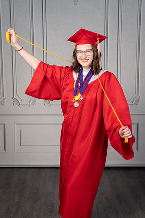Olivia Lewis Cap and gown