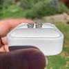 1.70ctw Old European Cut Diamond Clover Stud Earrings, GIA H-I SI 36