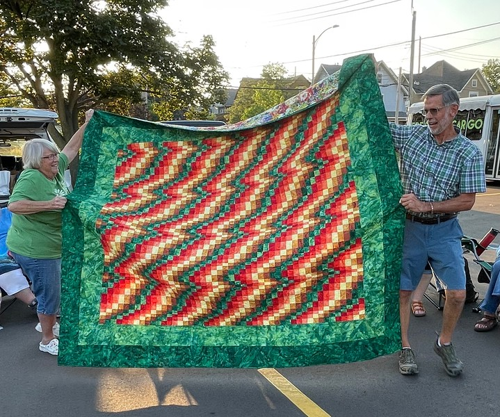 A bargello quilt by Jan Babcock