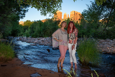 Evelyn and Bonnie's Birthday in Sedona