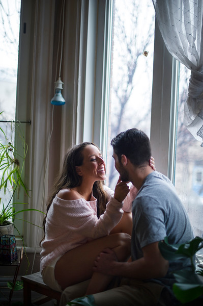 Wedding Photographer Montreal | Engagement Photos | Home Lifestyle Session | LMP Wedding Photography and Video