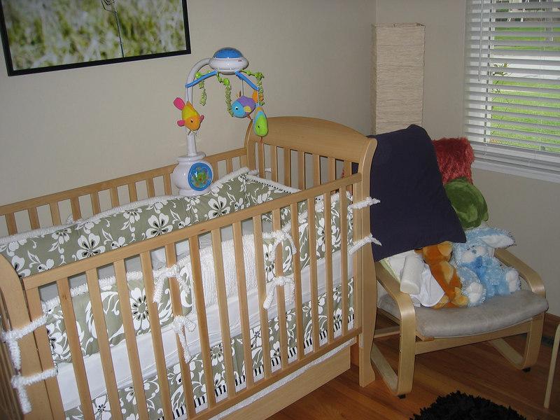 Connor's Nursery - The crib.